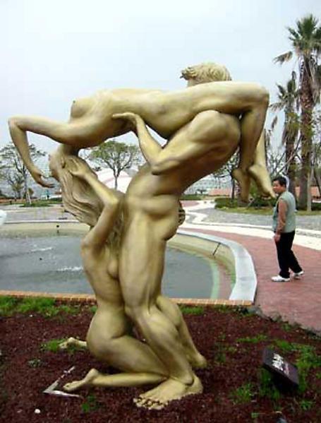 Порно с статуями